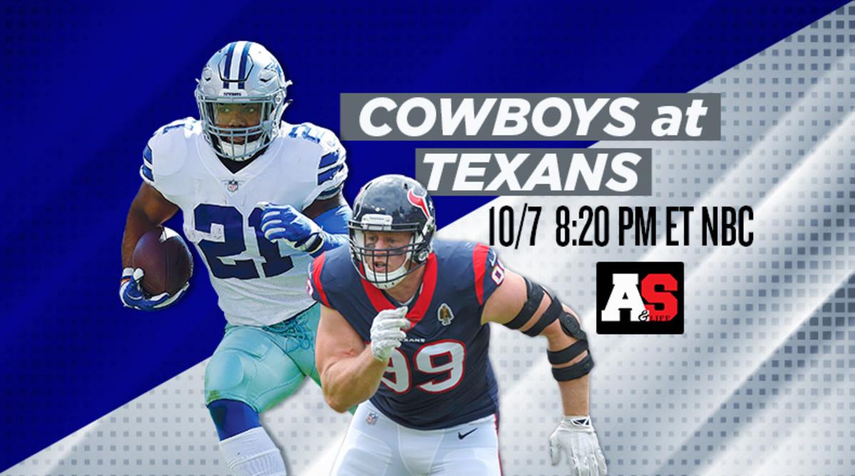 Sunday Night Football: Dallas Cowboys vs. Houston Texans Prediction and Preview