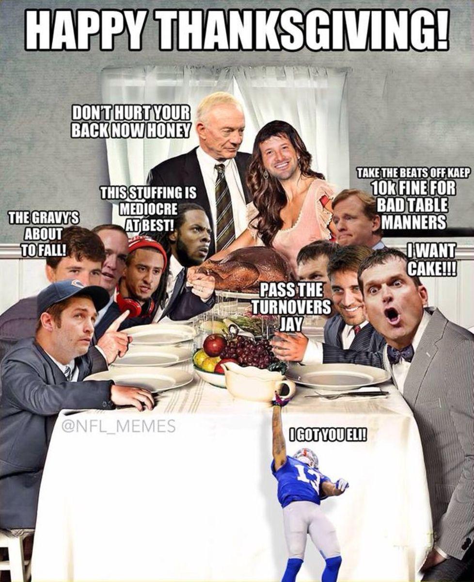 Thanksgiving Football Meme