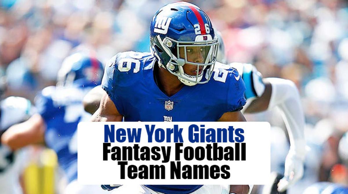 New York Giants Fantasy Football Team Names