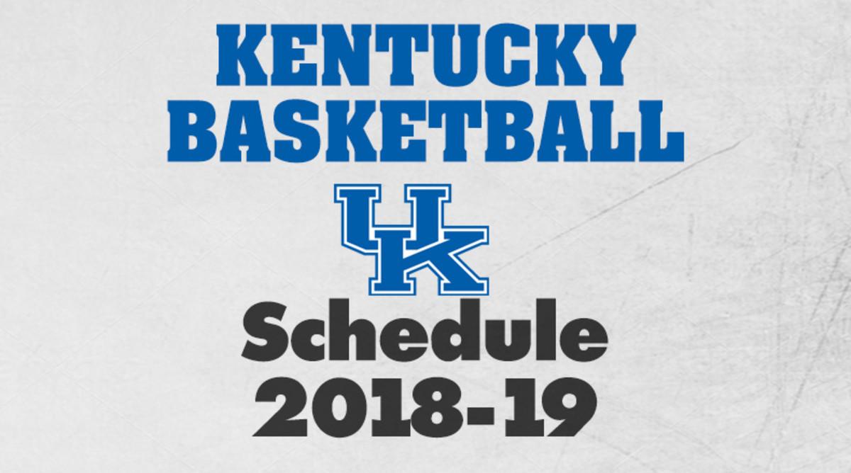 Kentucky Basketball Schedule 2018-19