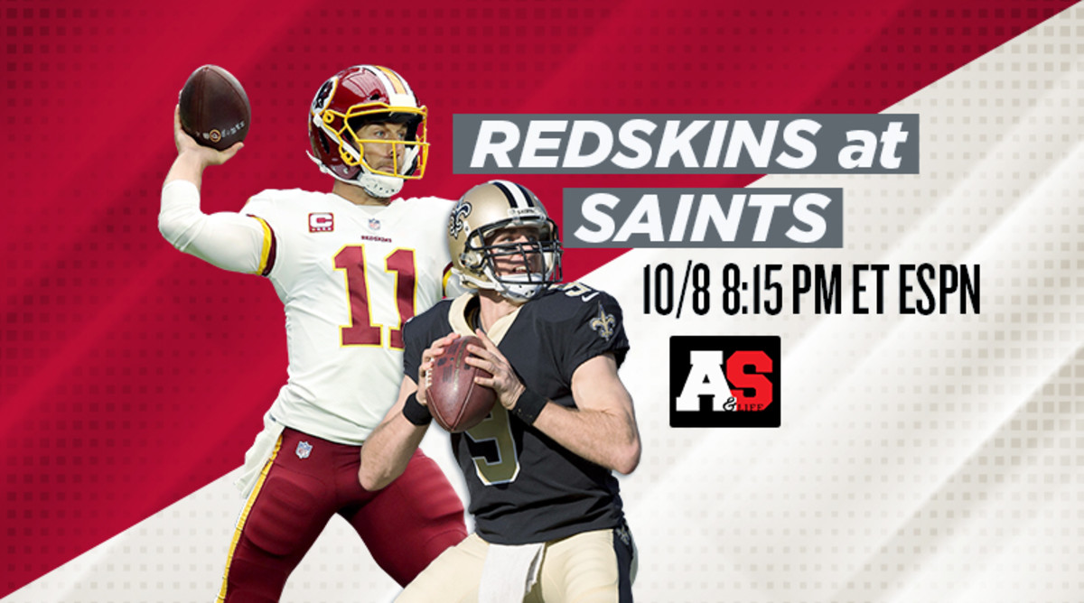 Monday Night Football: Washington Redskins vs. New Orleans Saints Prediction and Preview