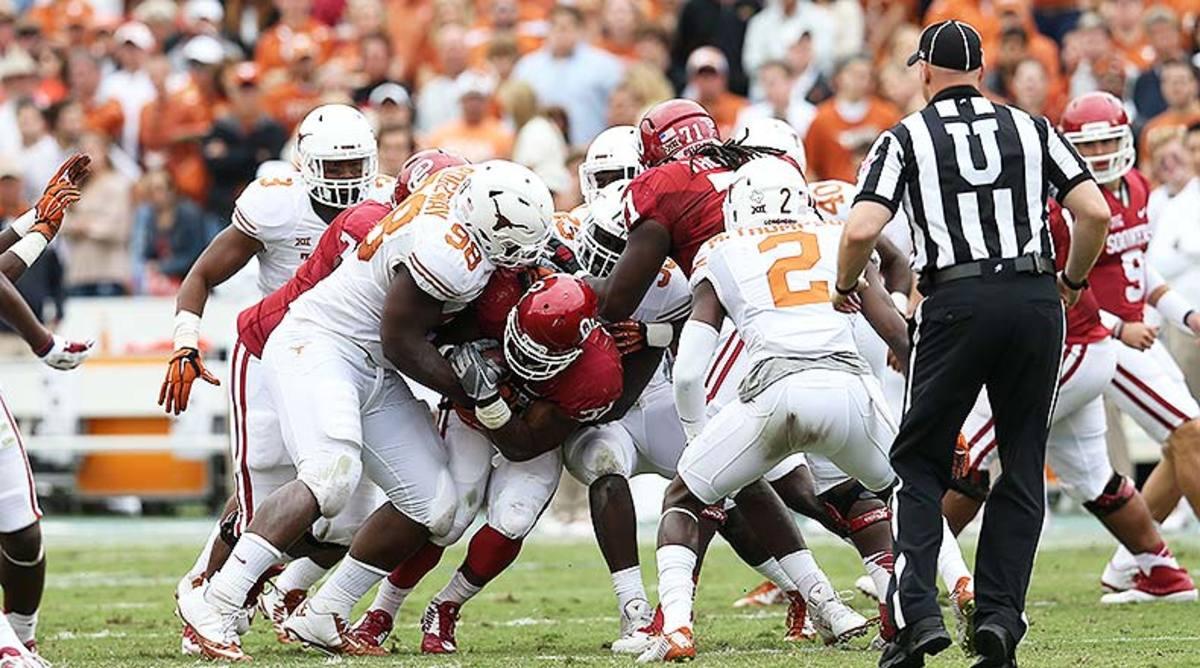 Texas Longhorns Oklahoma Sooners College Football Red River Showdown