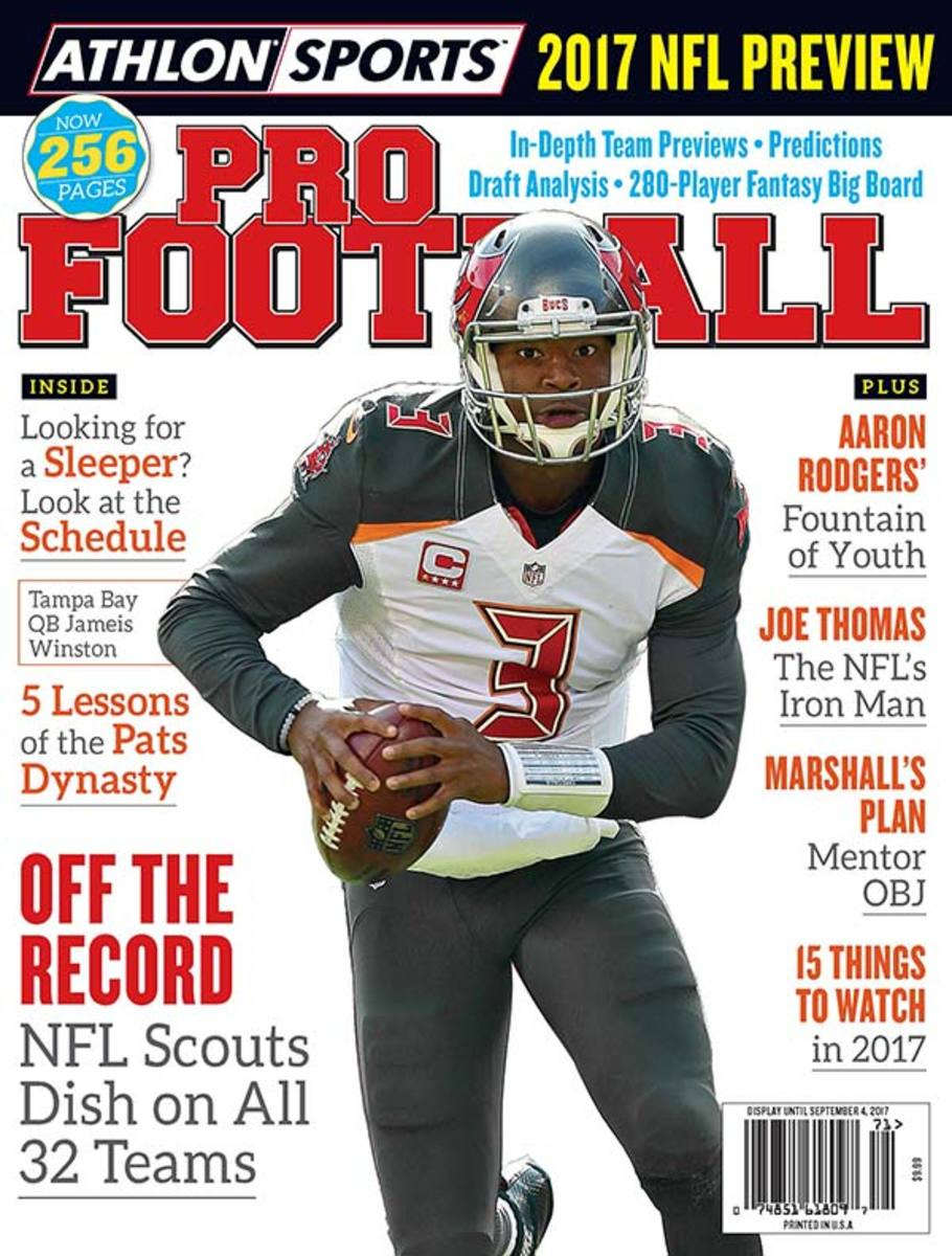 Athlon Sports' 2017 NFL Preview Magazine Covers
