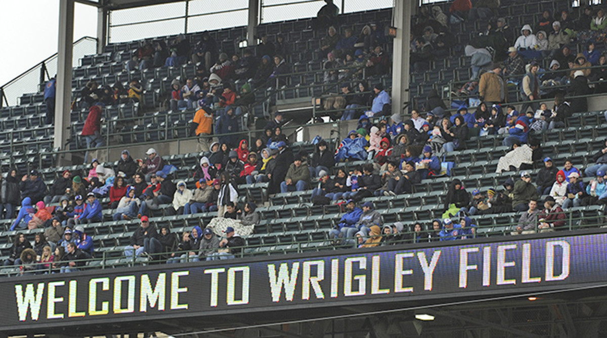 Low attendance at Wrigley Field