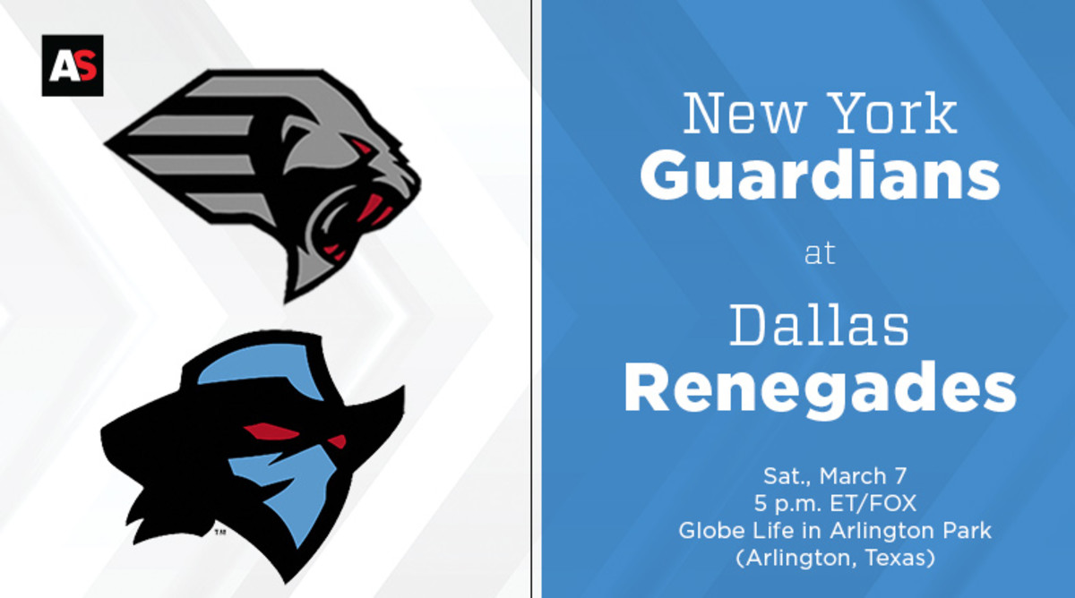 New York Guardians vs. Dallas Renegades Prediction and Preview (XFL Football)