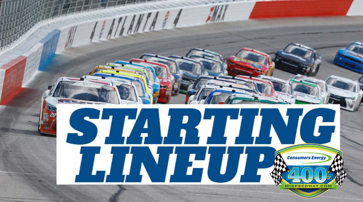 NASCAR Starting Lineup for Sunday's Consumers Energy 400 at Michigan International Speedway