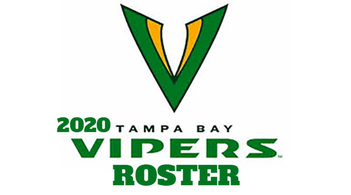 Tampa Bay Vipers 2020 Roster (XFL Football)