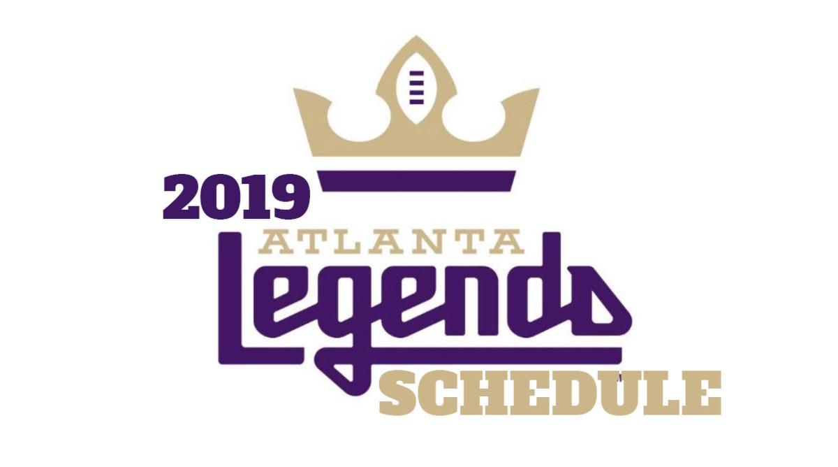 AAF Football: Atlanta Legends Schedule 2019