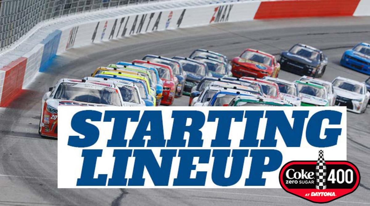 NASCAR Starting Lineup for Saturday's Coke Zero Sugar 400 at Daytona International Speedway