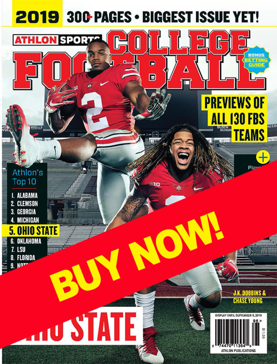 College football magazine with Ohio State on the cover