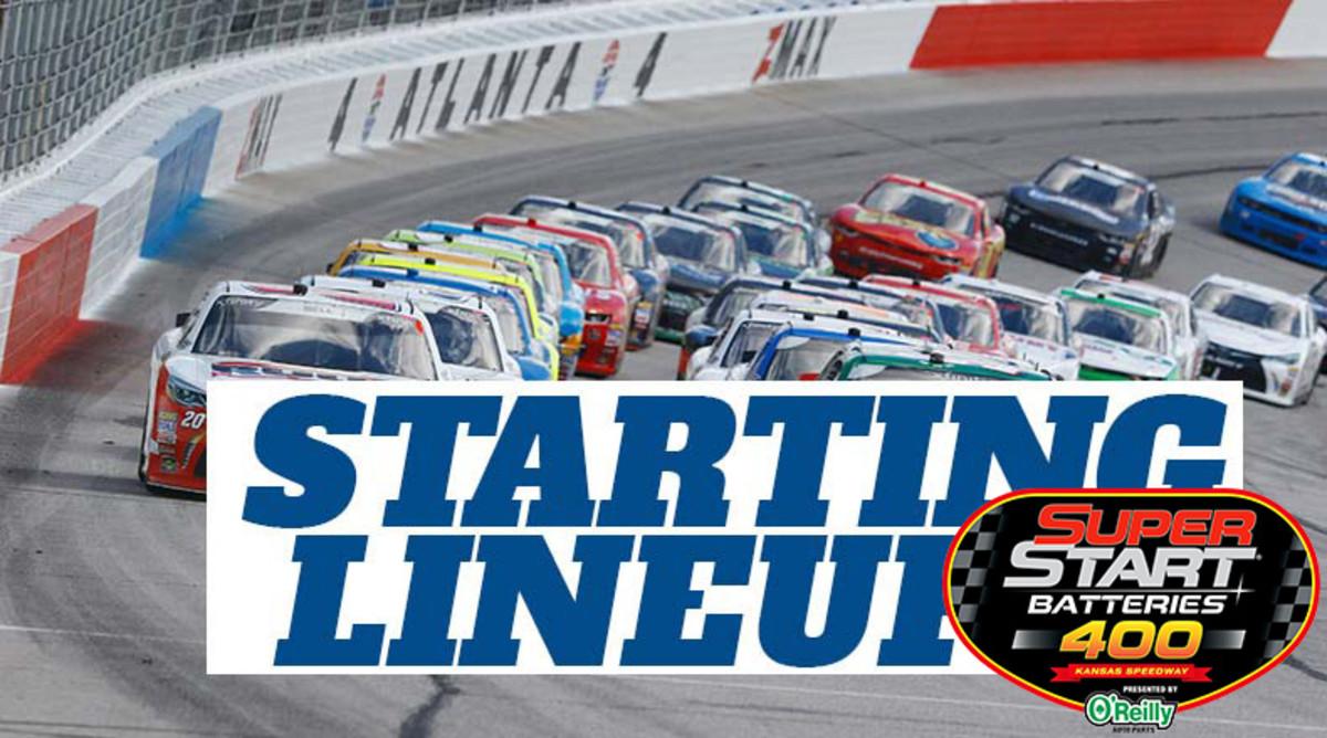 NASCAR Starting Lineup for Thursday's Super Start Batteries 400 at Kansas Speedway