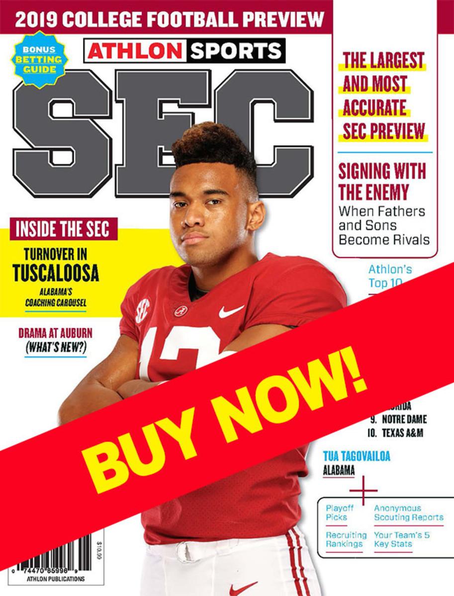 SEC Football magazine with Alabama cover
