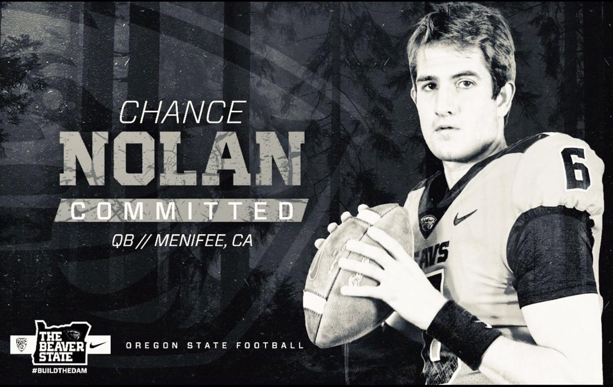 Chance Nolan, Oregon State Beavers Football