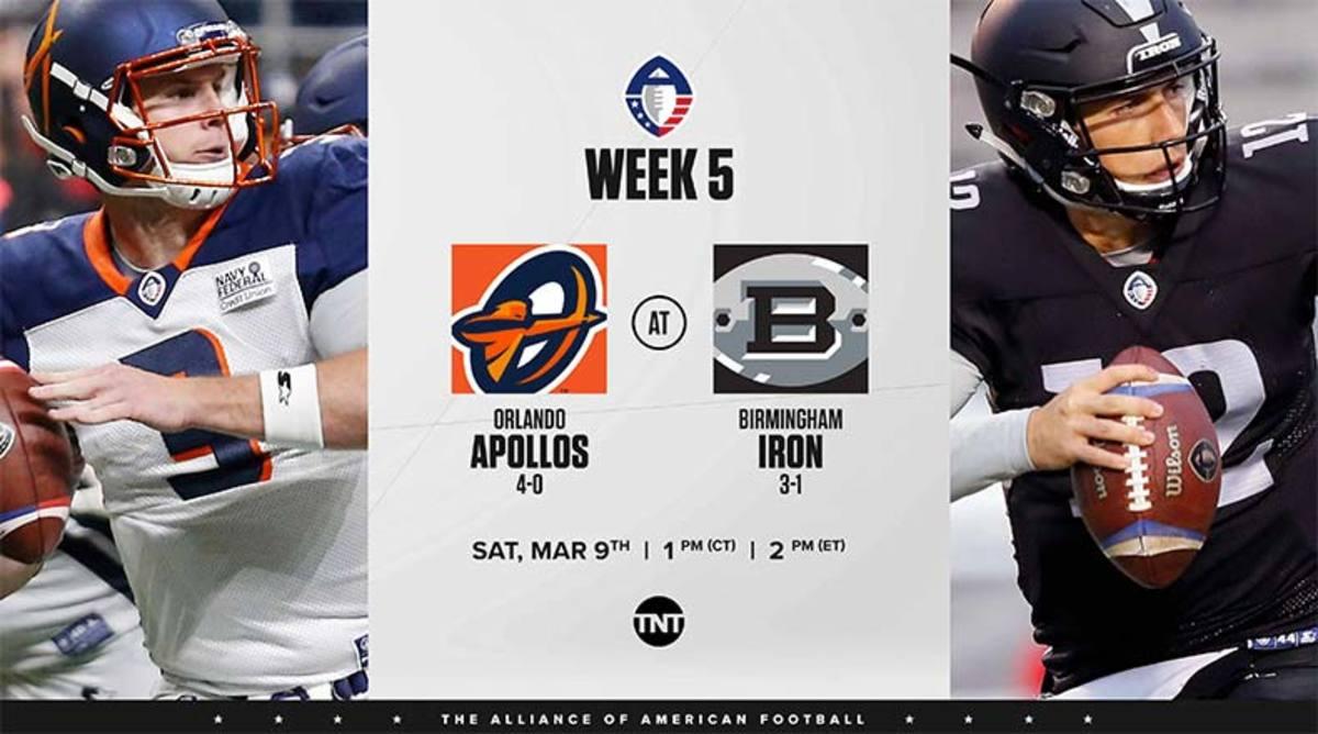 Orlando Apollos vs. Birmingham Iron Prediction and Preview (AAF)