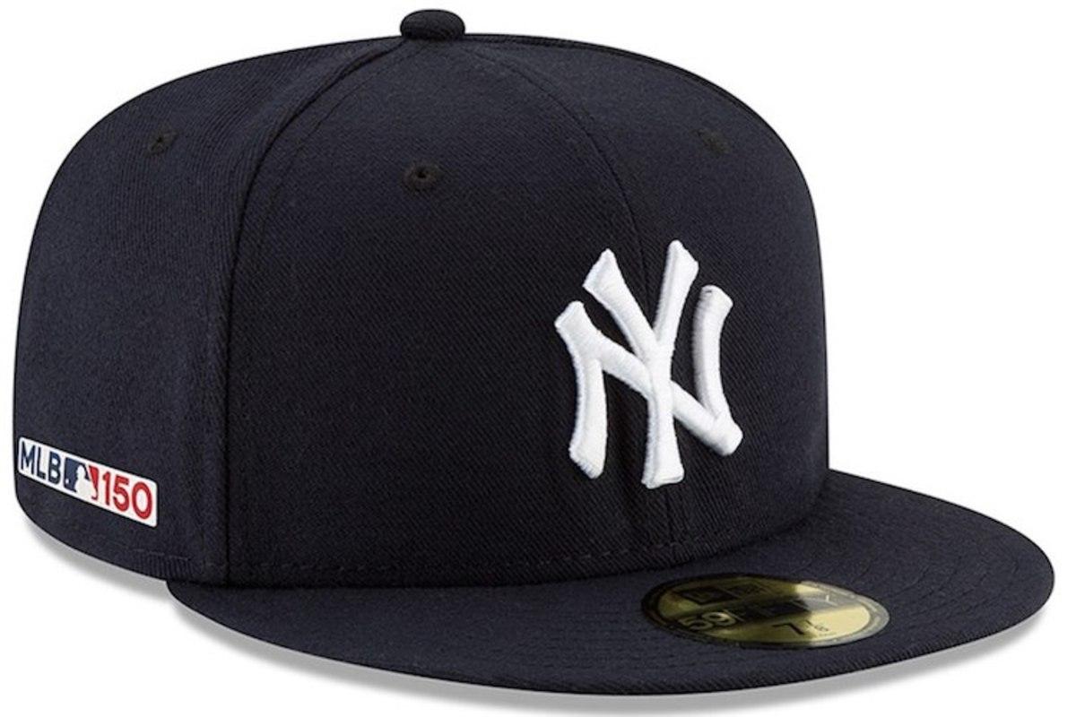 Yankees Hat with MLB 150 logo