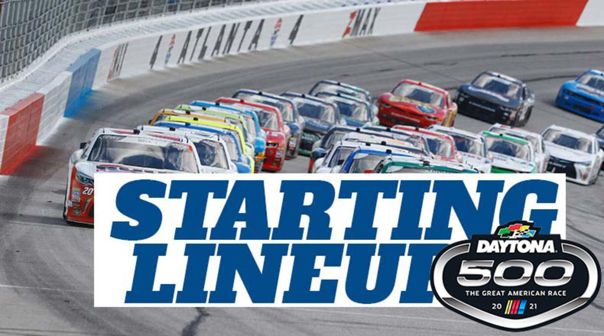 NASCAR Starting Lineup for Sunday's Daytona 500 at Daytona International Speedway