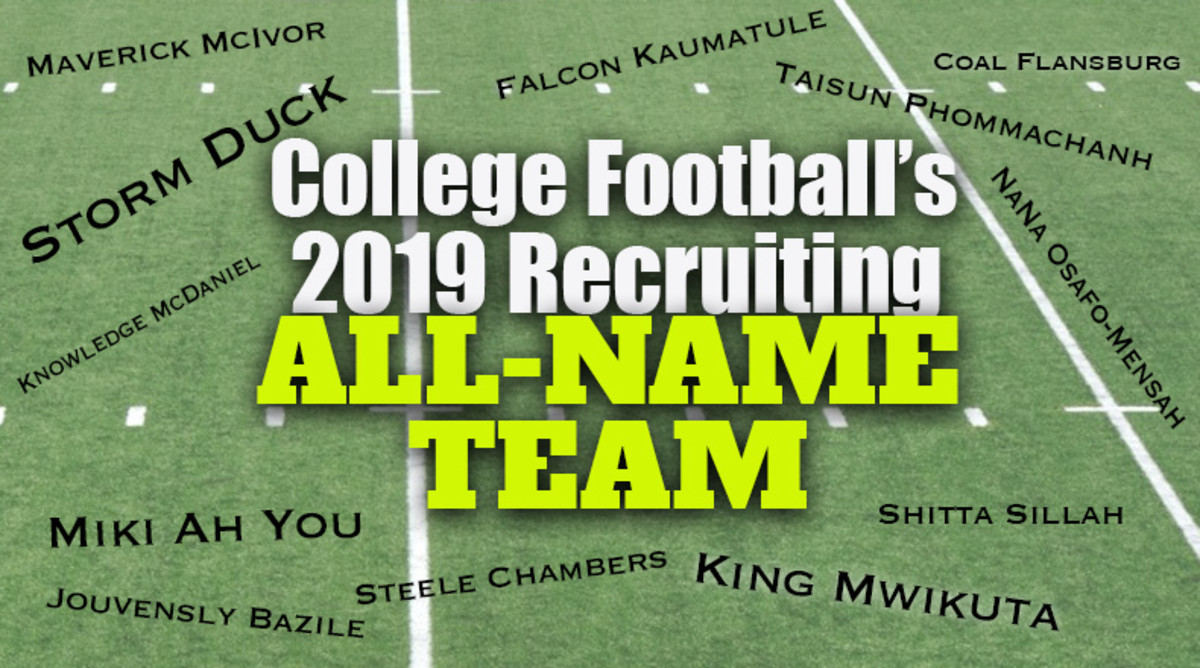 College Football's 2019 Recruiting All-Name Team