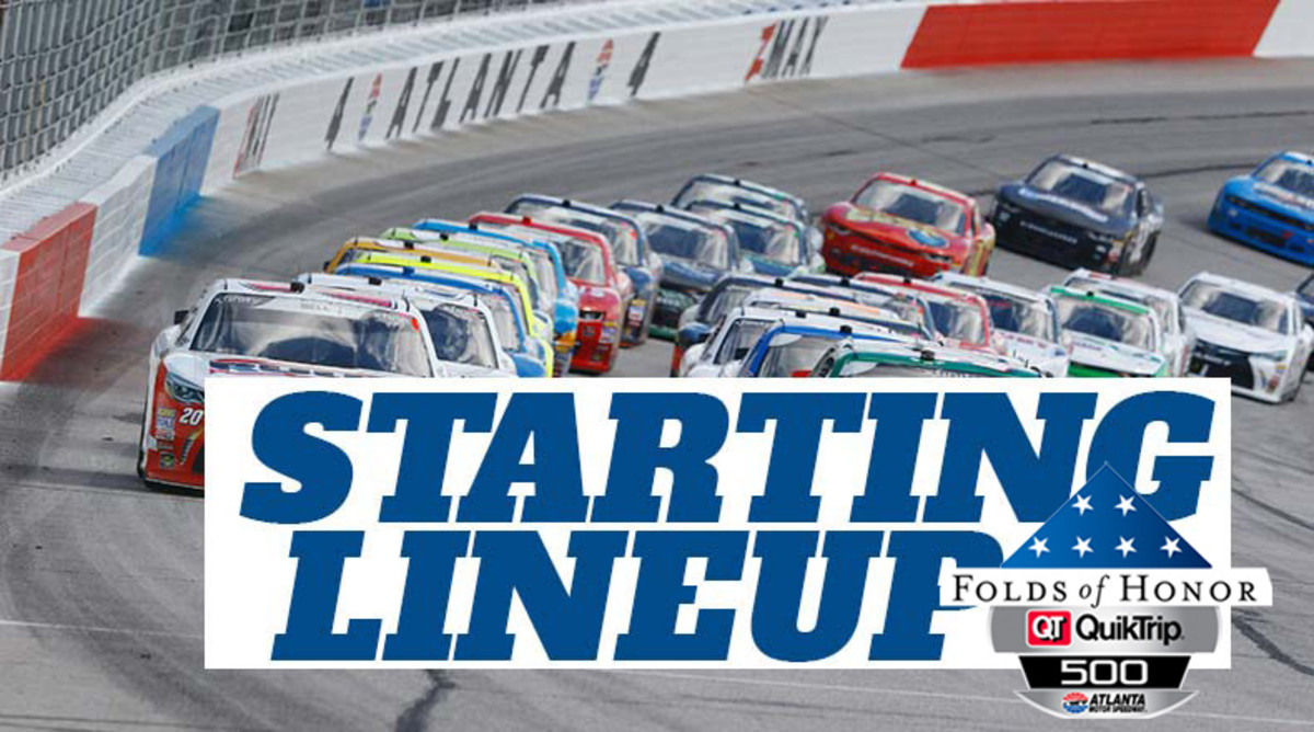 NASCAR Starting Lineup for Sunday's Folds of Honor QuikTrip 500 at Atlanta Motor Speedway