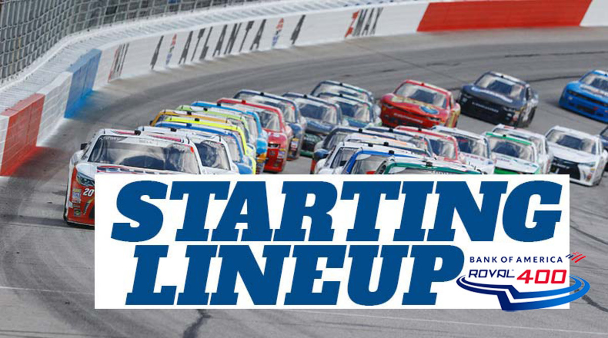 NASCAR Starting Lineup for Sunday's Bank of America ROVAL 400 at Charlotte Motor Speedway