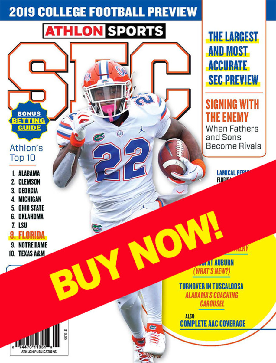 SEC Football Magazine with Florida on the cover