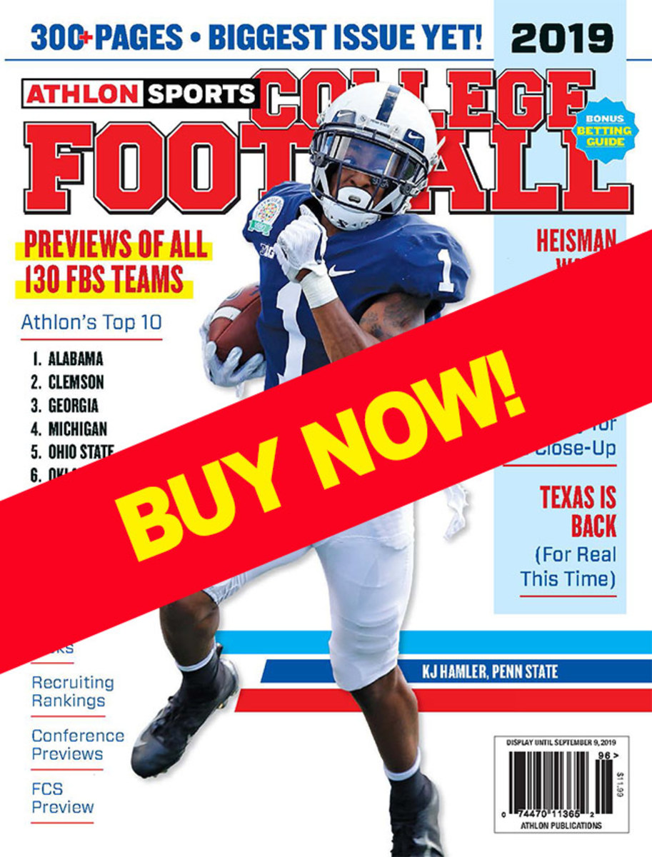 College Football 2019 magazine with Penn State cover
