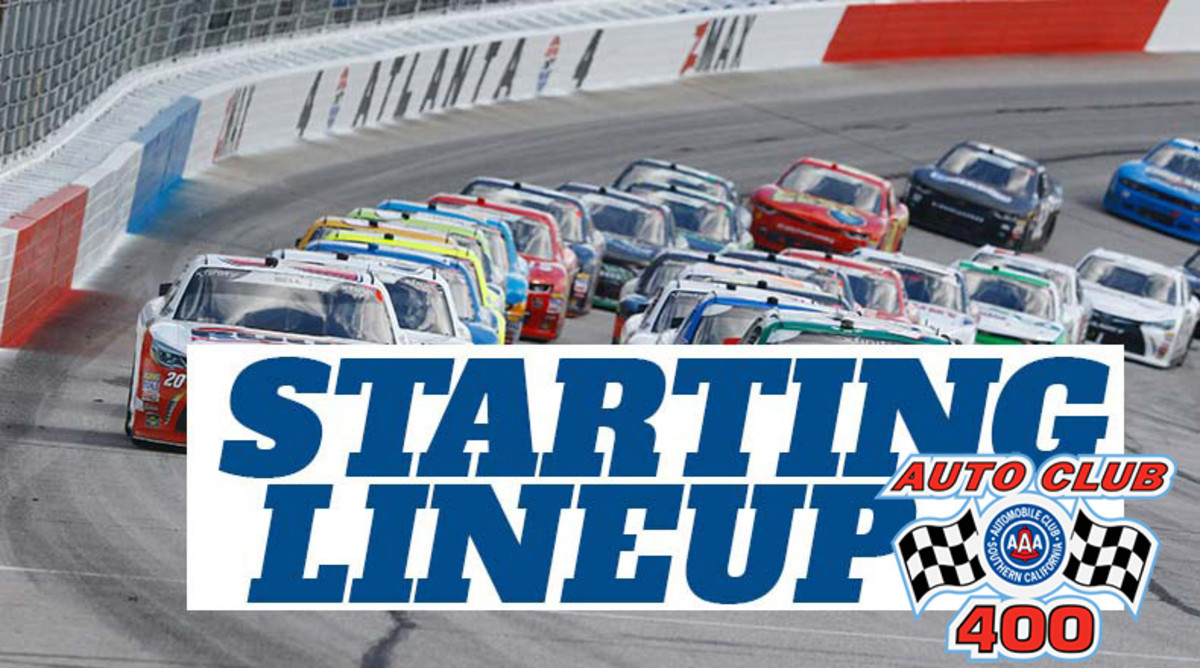 NASCAR Starting Lineup for Sunday's Auto Club 400 at Auto Club Speedway