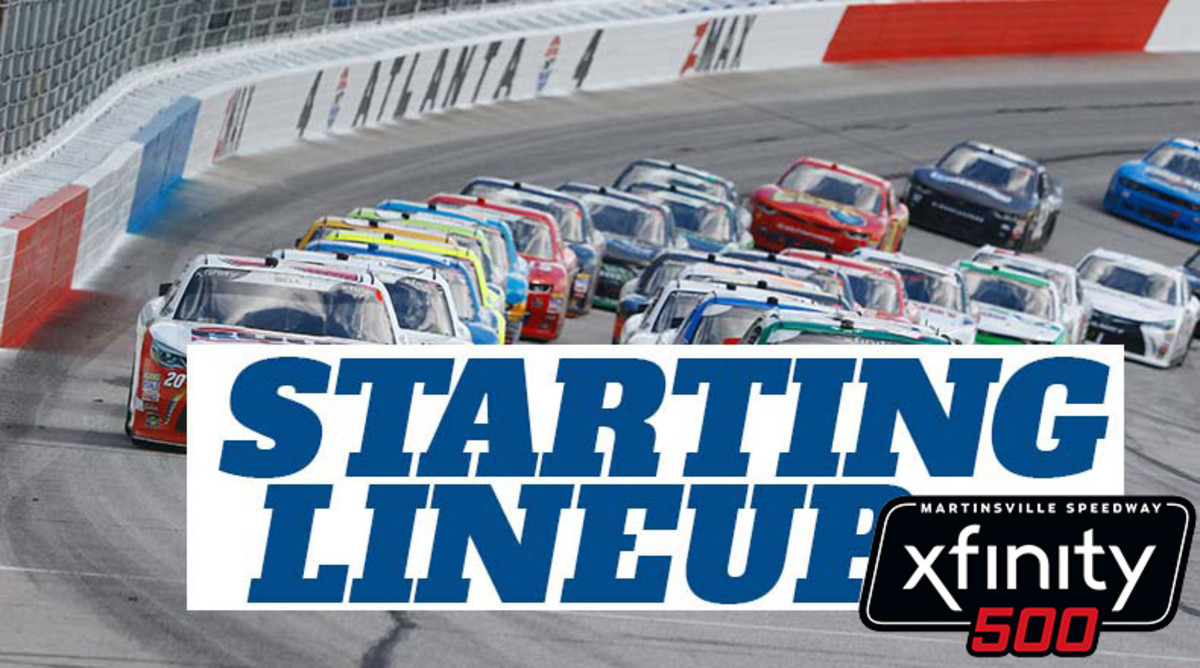 NASCAR Starting Lineup for Sunday's Xfinity 500 at Martinsville Speedway