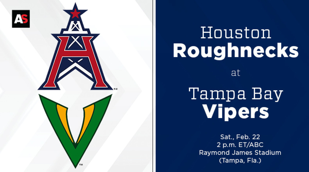 Houston Roughnecks vs. Tampa Bay Vipers Prediction and Preview (XFL Football)