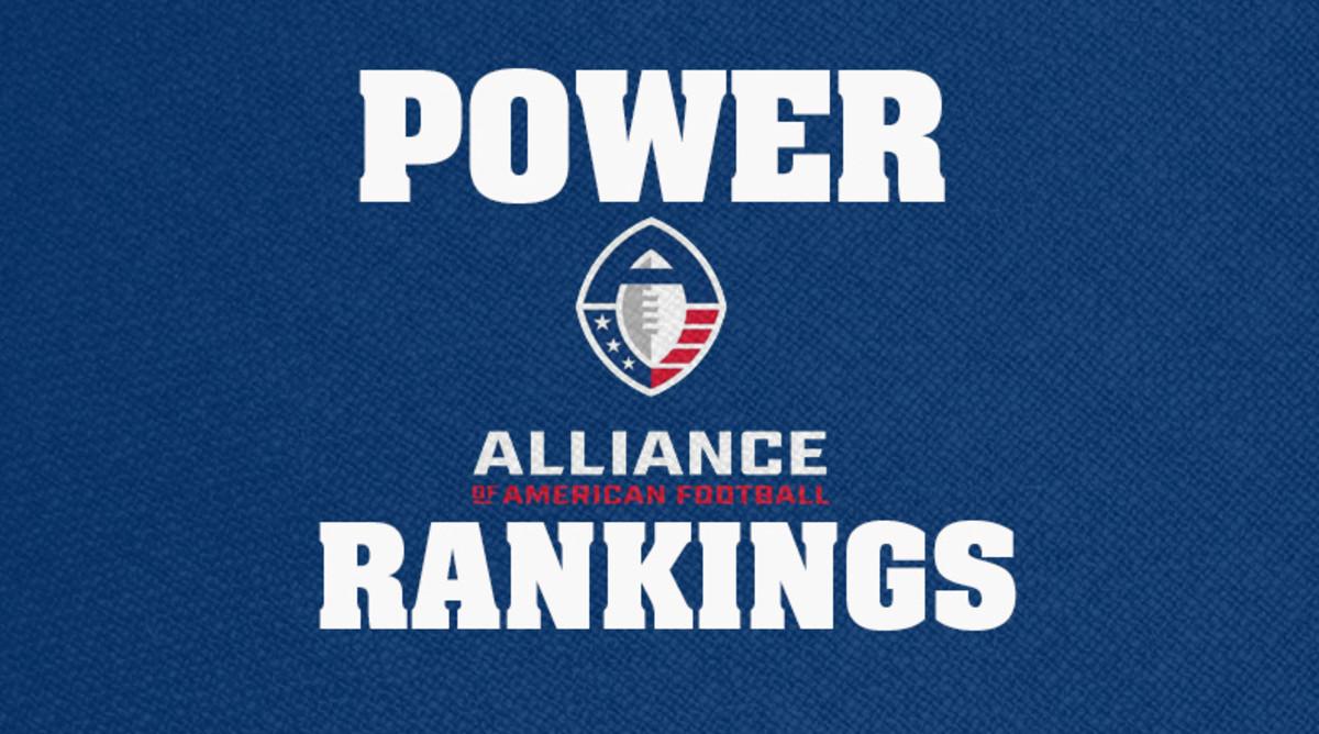 AAF Football: Power Rankings Entering Week 4