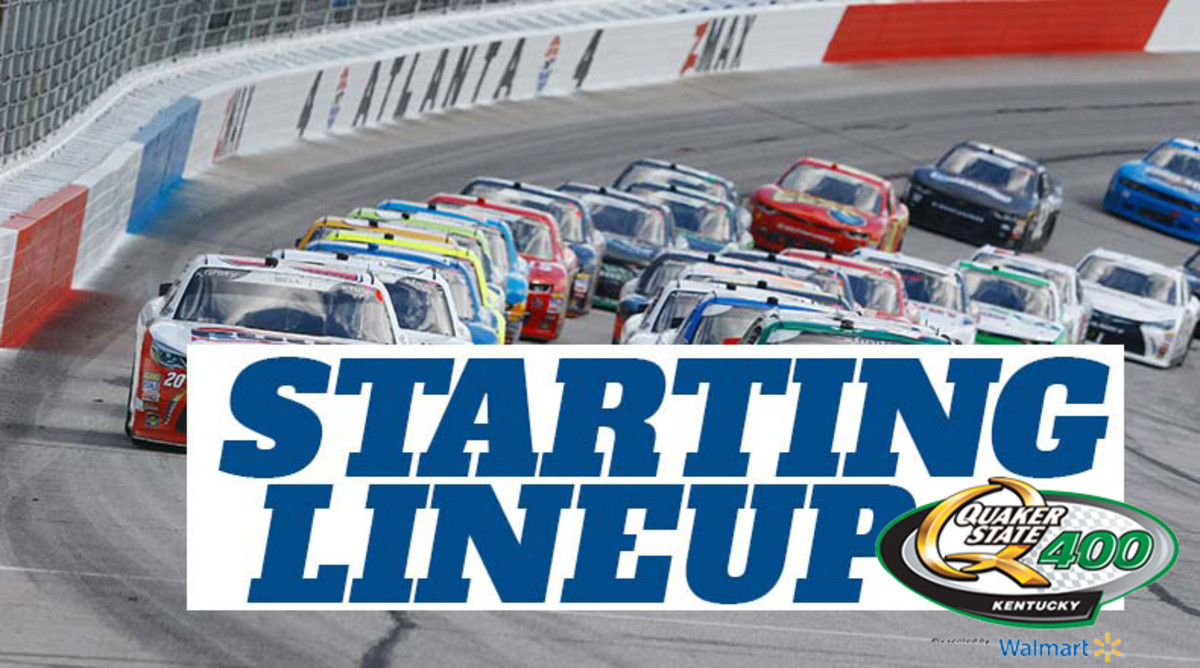 NASCAR Starting Lineup for Sunday's Quaker State 400 at Kentucky Speedway