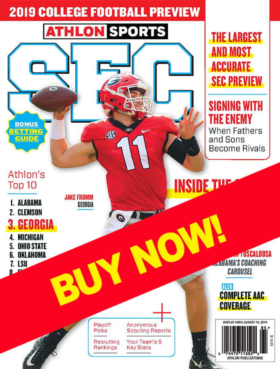 SEC Football 2019 magazine with Georgia cover