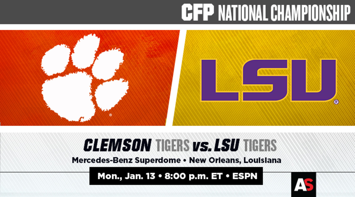 National Championship Prediction and Preview: Clemson vs. LSU