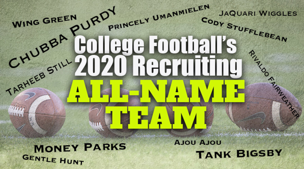 College Football's 2020 Recruiting All-Name Team