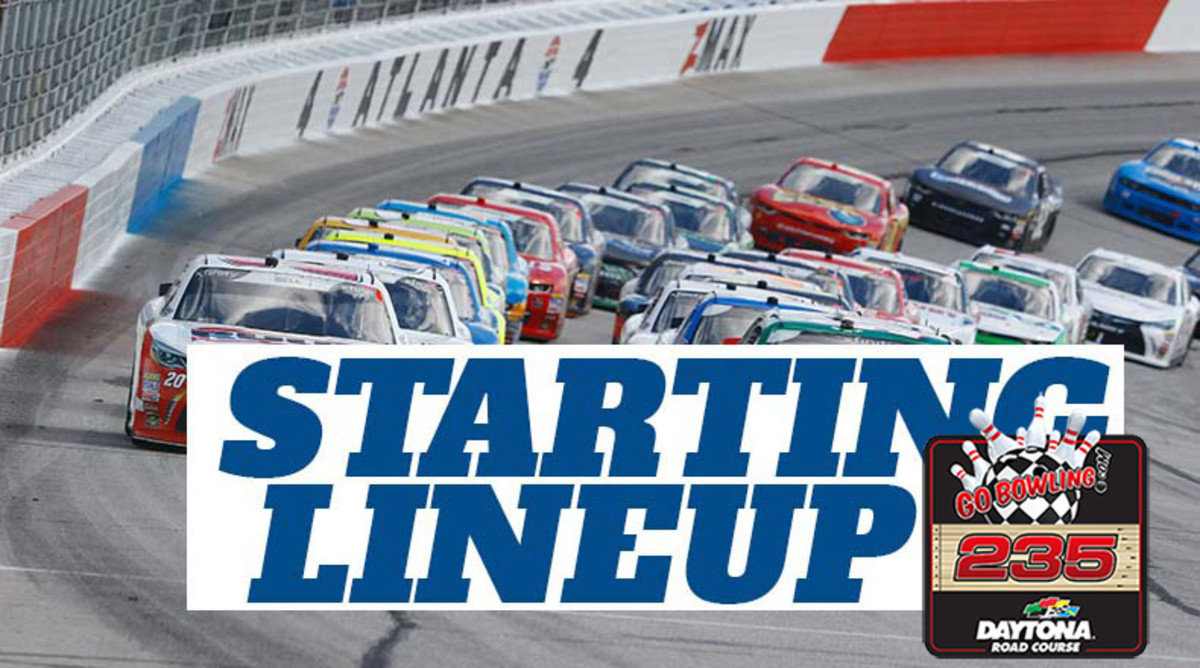 NASCAR Starting Lineup for Sunday's GoBowling 235 at Daytona International Speedway Road Course