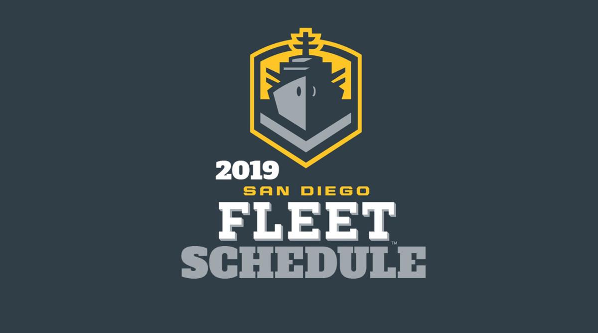 AAF Football: San Diego Fleet Schedule 2019
