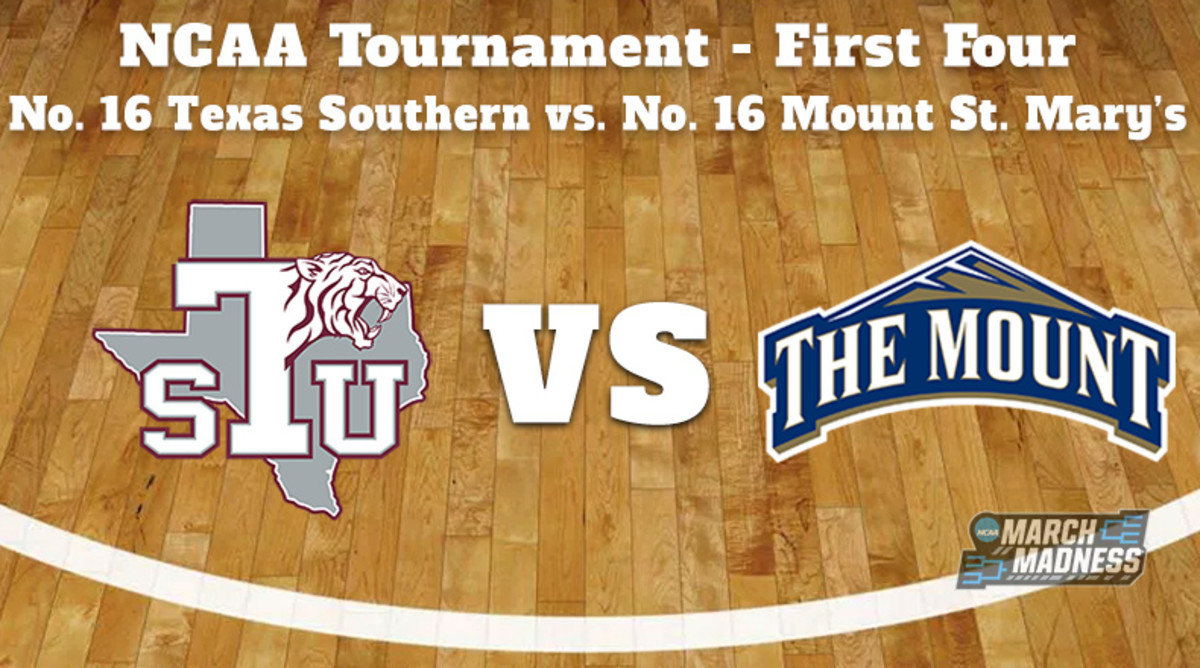 Texas Southern Tigers vs. Mount St. Mary's Mountaineers Prediction: NCAA Tournament First Four Preview