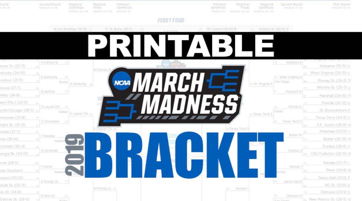 Printable NCAA Tournament Bracket for 2019 March Madness