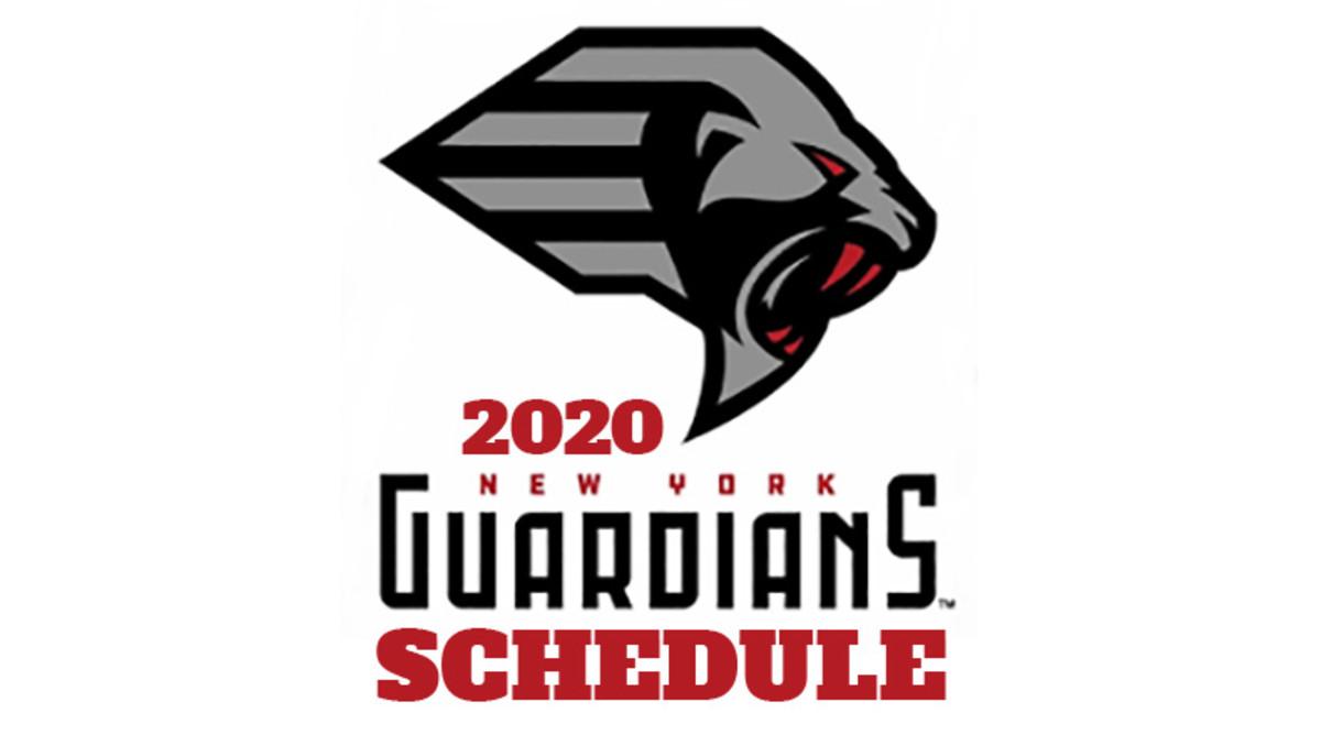New York Guardians 2020 Schedule (XFL Football)