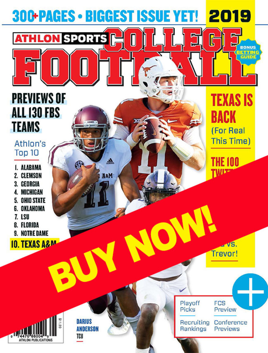College football 2019 magazine with a Texas cover