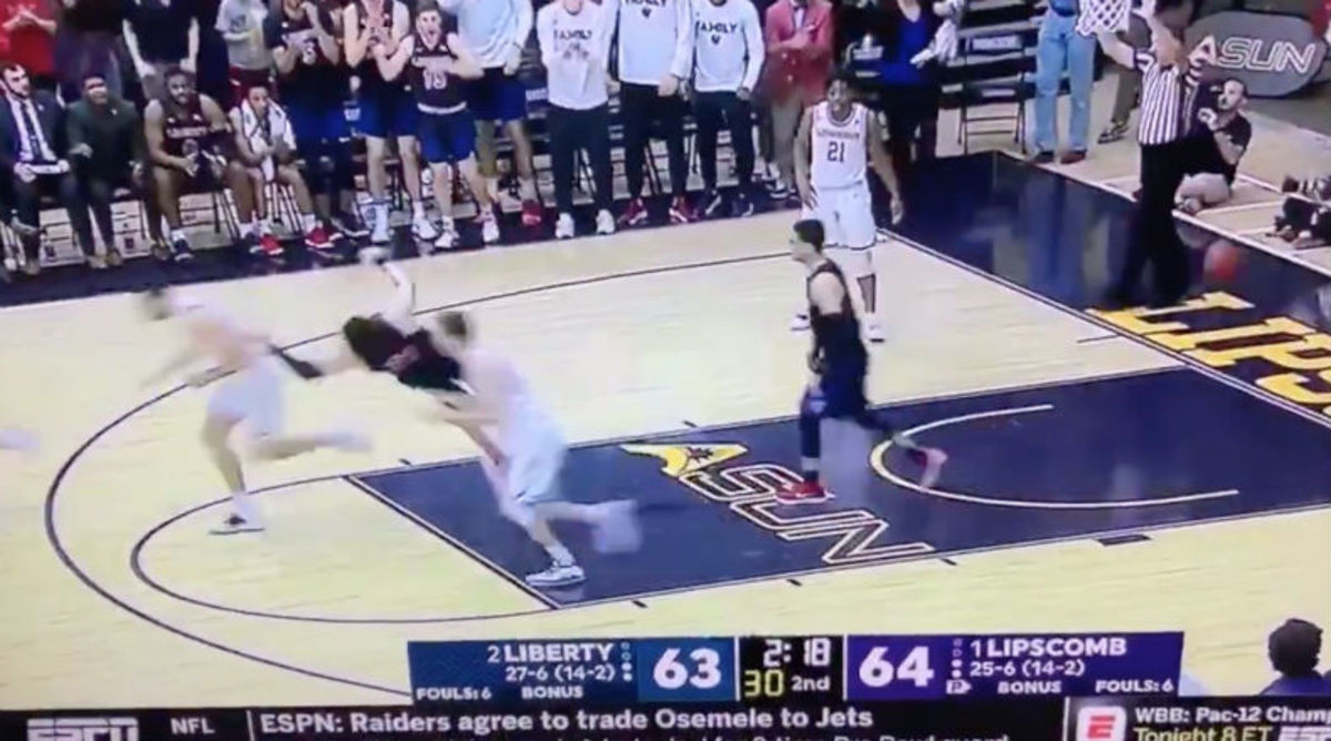 Liberty Player Attempts Most Exaggerated Flop of All Time