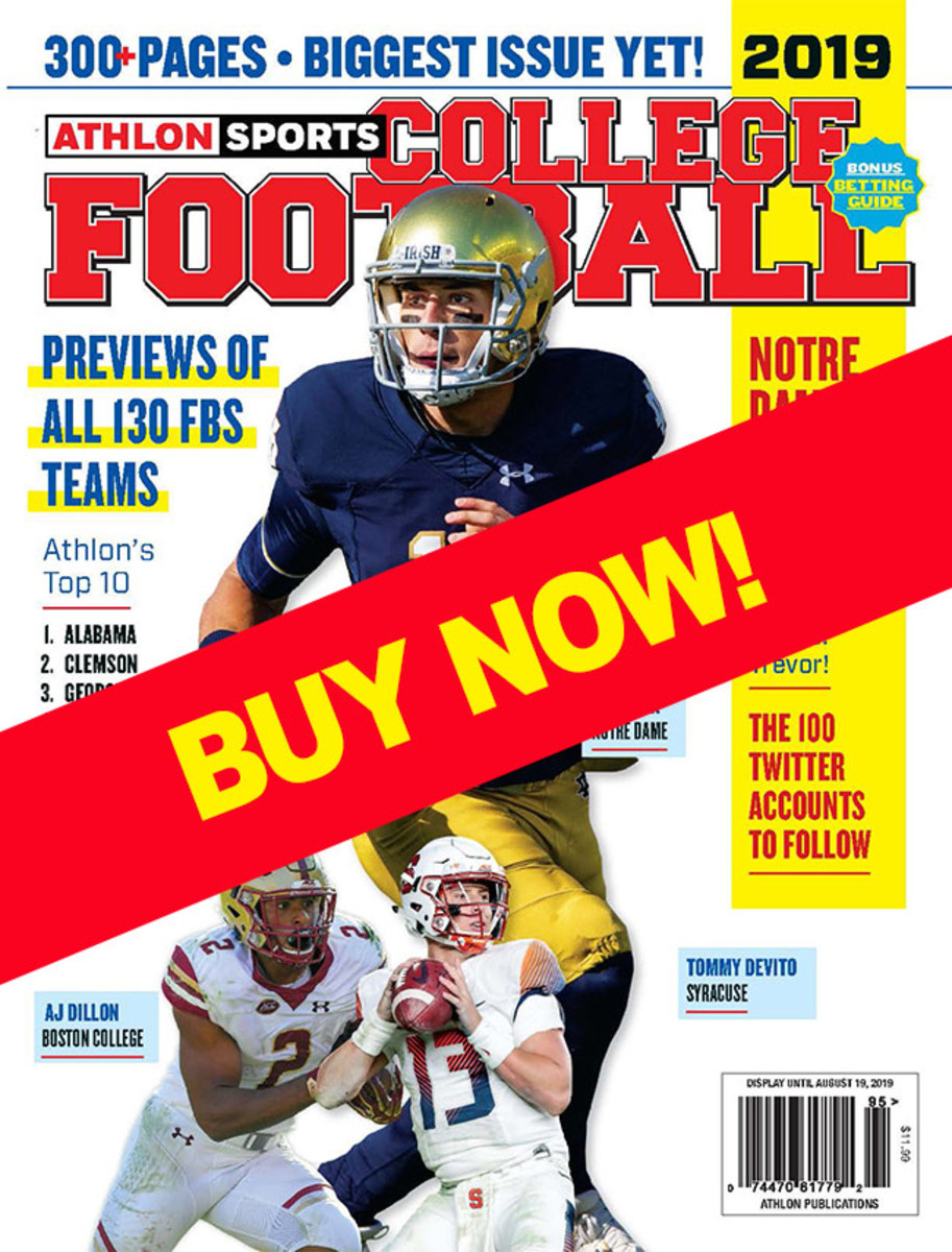 College football magazines with Syracuse cover
