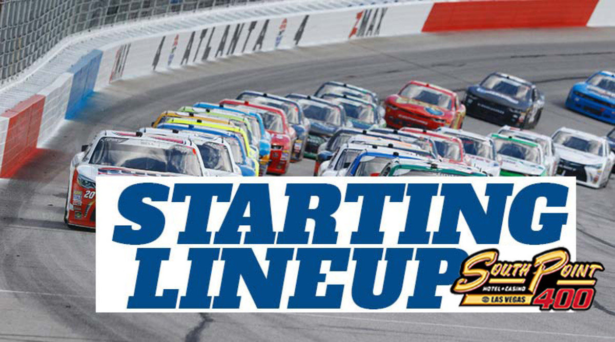 NASCAR Starting Lineup for Sunday's South Point 400 at Las Vegas Motor Speedway