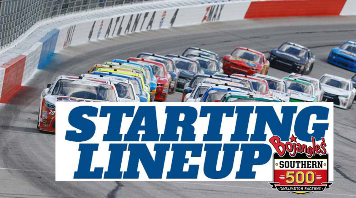 NASCAR Starting Lineup for Sunday's Bojangles' Southern 500 at Darlington Raceway