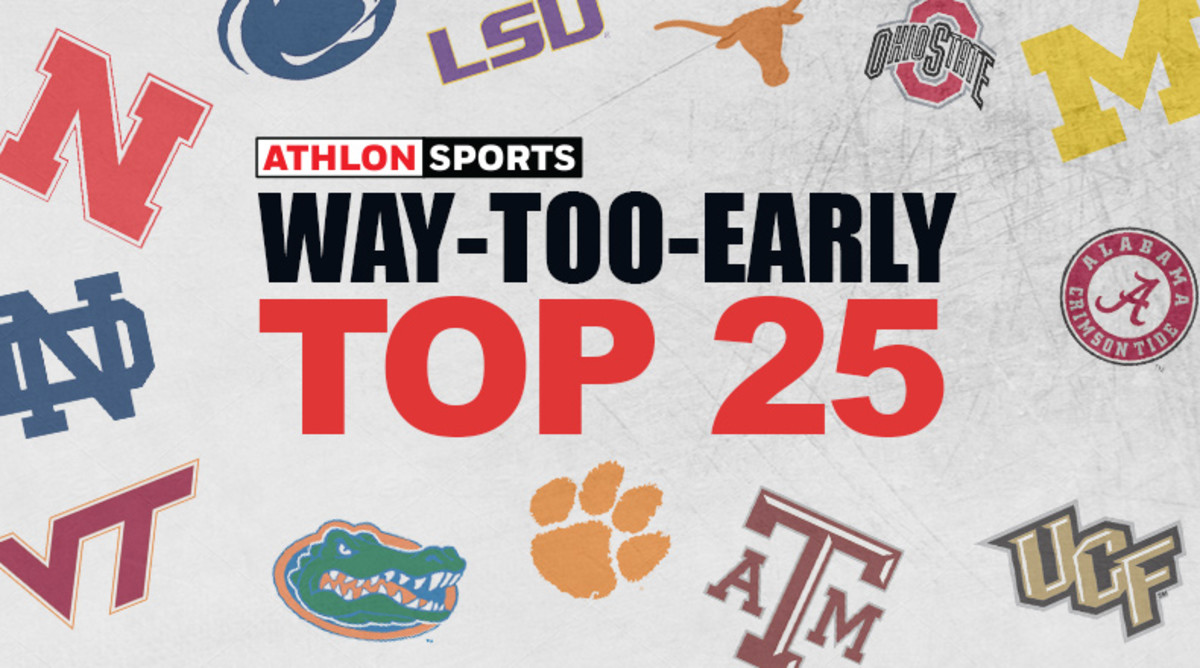 Way-Too-Early Top 25 College Football Rankings for 2019