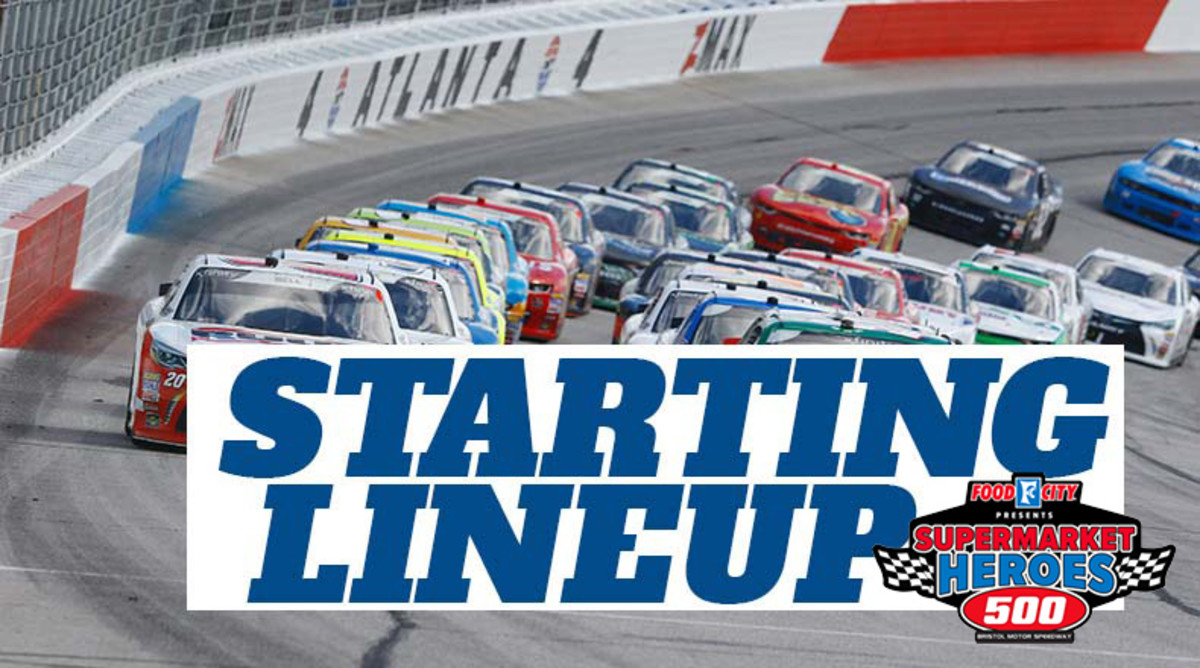 NASCAR Starting Lineup for Sunday's Food City Presents the Supermarket Heroes 500 at Bristol Motor Speedway