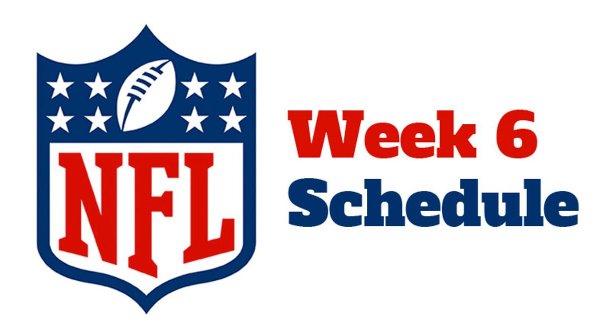 NFL Week 6 Schedule 2021