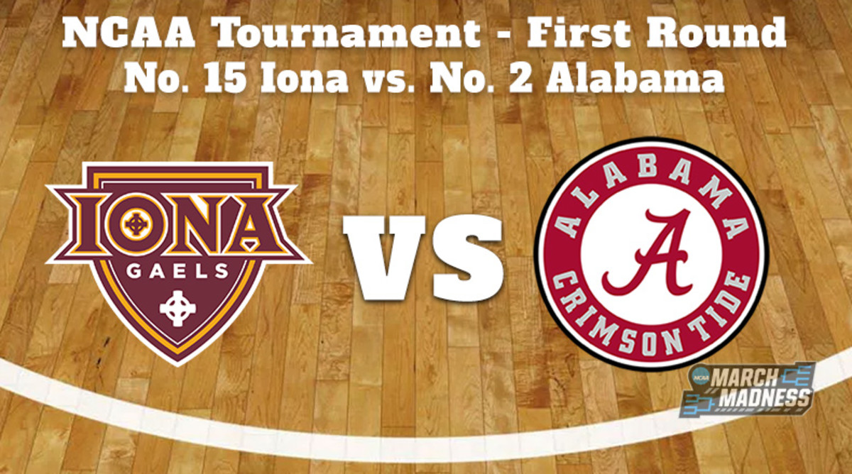 Iona Gaels vs. Alabama Crimson Tide Prediction: NCAA Tournament First Round Preview