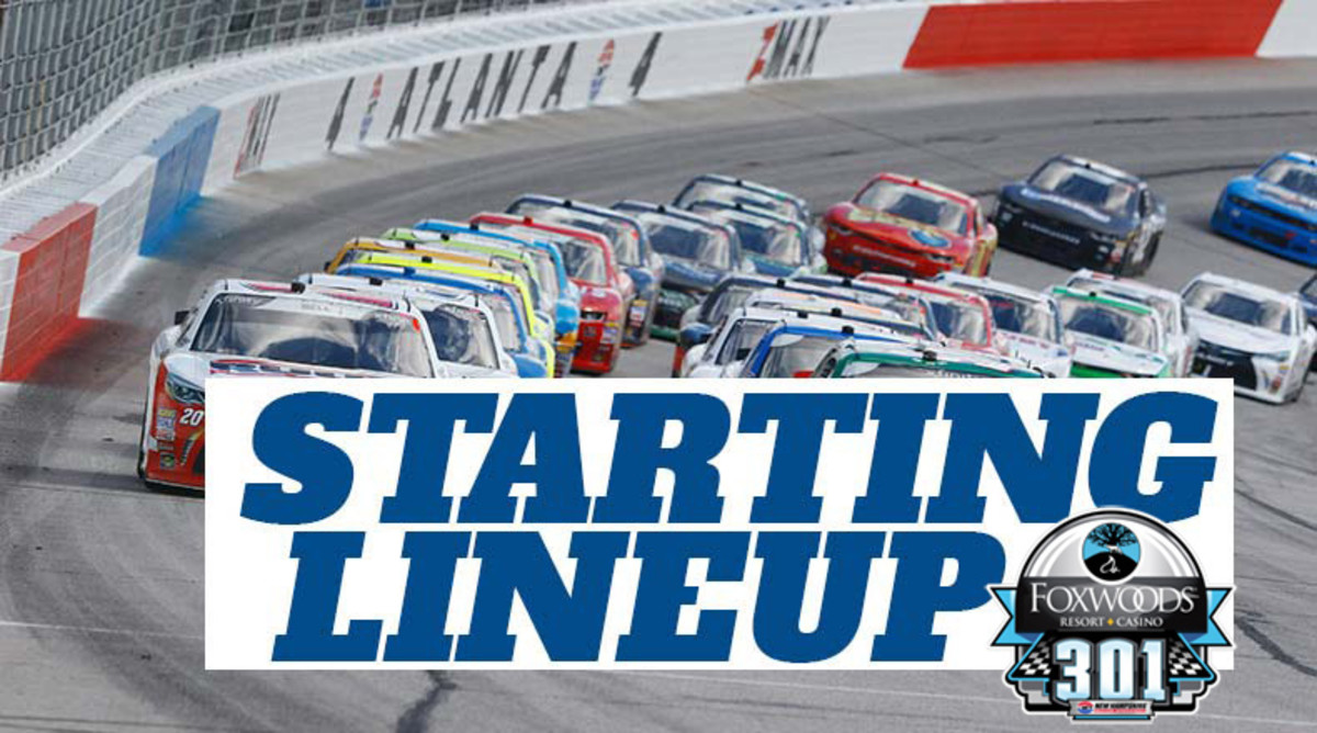 NASCAR Starting Lineup for Sunday's Foxwoods Resort Casino 301 at New Hampshire Motor Speedway
