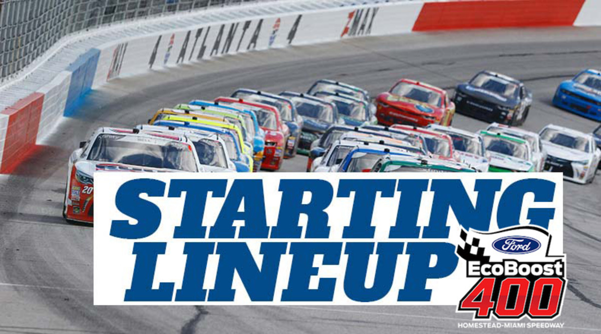 NASCAR Starting Lineup for Sunday's Ford EcoBoost 400 at Homestead-Miami Speedway