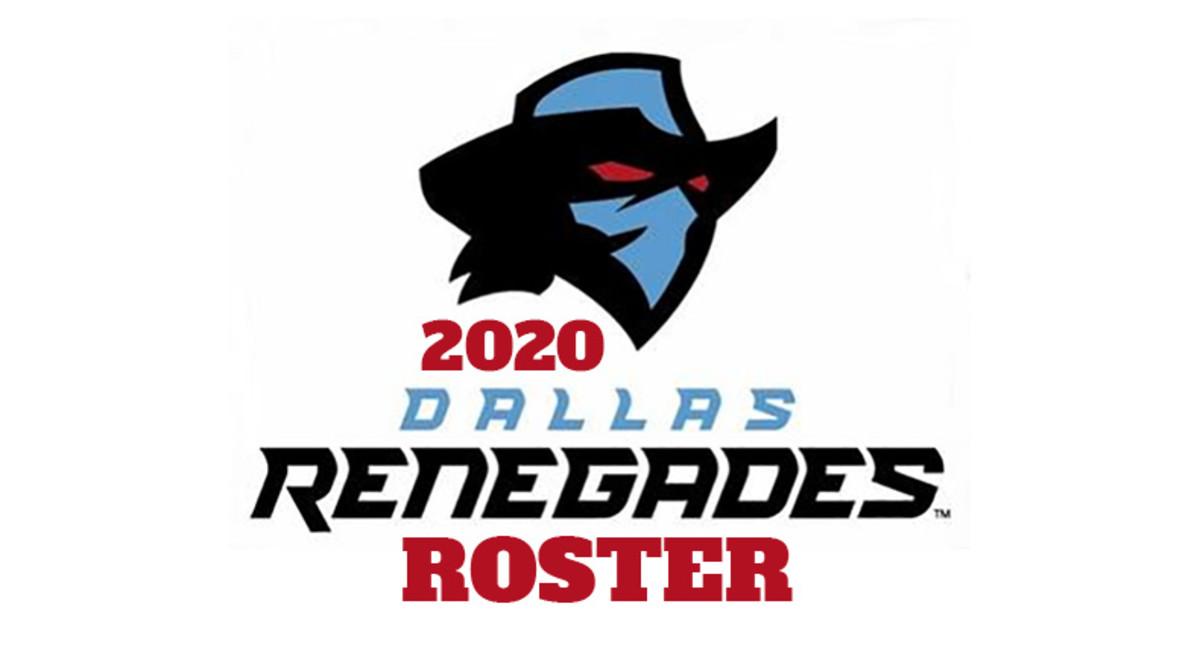 Dallas Renegades 2020 Roster (XFL Football)